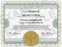 Order an official Appraisal Certificate